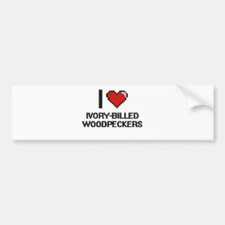 I love Ivory-Billed Woodpeckers Digital Design Car Bumper Sticker