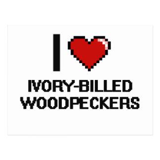 I love Ivory-Billed Woodpeckers Digital Design Postcard