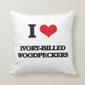 I love Ivory-Billed Woodpeckers Throw Pillow