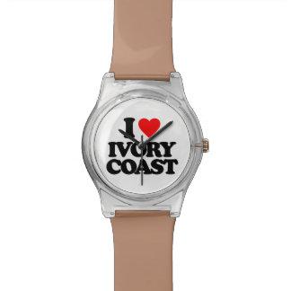 I LOVE IVORY COAST WRIST WATCH