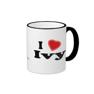 I Love Ivy Ringer Mug