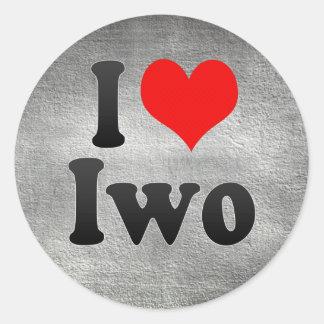 I Love Iwo, Nigeria Round Sticker