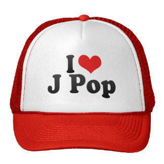 I Love J Pop Trucker Hats