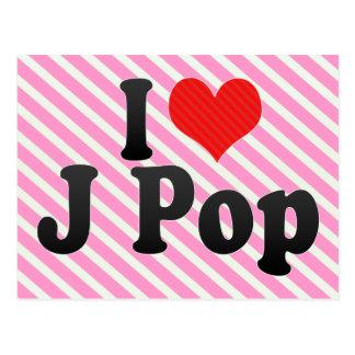 I Love J Pop Postcard