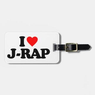 I LOVE J-RAP BAG TAG