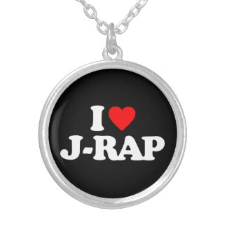 I LOVE J-RAP SILVER PLATED NECKLACE
