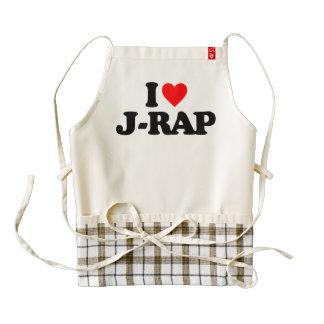 I LOVE J-RAP ZAZZLE HEART APRON