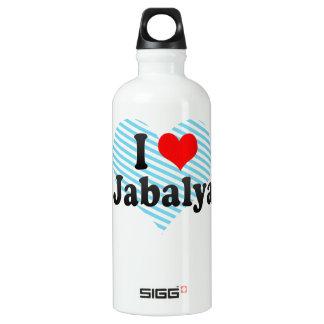 I Love Jabalya, Palestinian Territory Aluminum Water Bottle