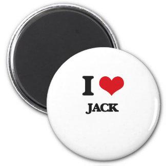 I love Jack Refrigerator Magnets