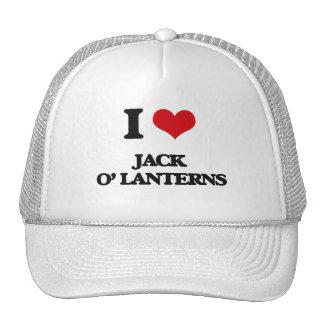 I Love Jack O' Lanterns Hats
