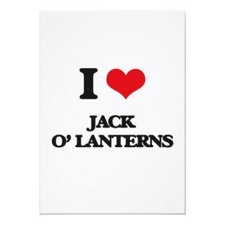 I Love Jack O' Lanterns 5x7 Paper Invitation Card