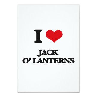 I Love Jack O' Lanterns 3.5x5 Paper Invitation Card