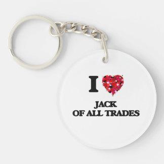 I Love Jack Of All Trades Single-Sided Round Acrylic Keychain