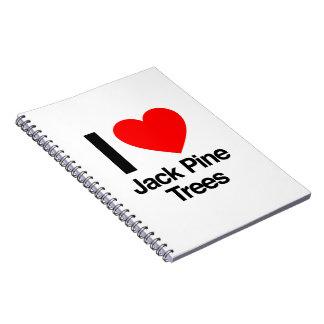 i love jack pine trees notebooks