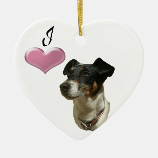 I love Jack Russell dog Ornament