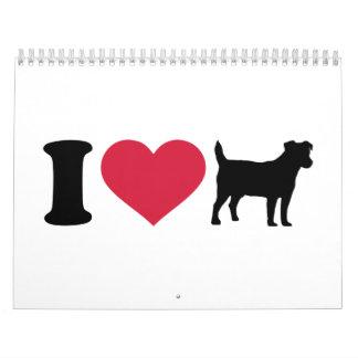 I love Jack Russell terrier Calendar