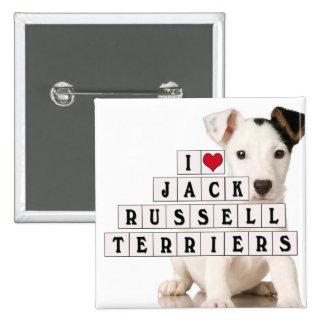 I LOVE JACK RUSSELL TERRIERS - BLOCKS PIN