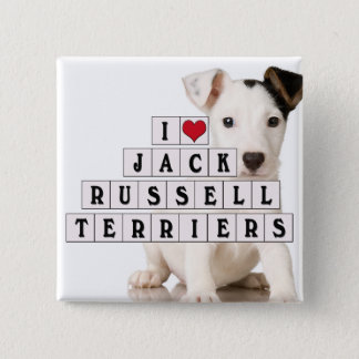 I LOVE JACK RUSSELL TERRIERS - BLOCKS PINBACK BUTTON