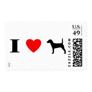 I Love Jack Russell Terriers Stamps