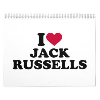 I love Jack Russells Calendar