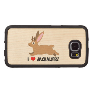 I Love Jackalopes! Wood Phone Case