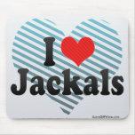 I Love Jackals Mouse Pad