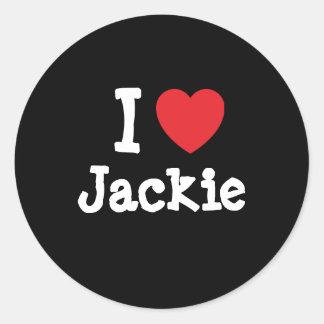 I love Jackie heart T-Shirt Stickers