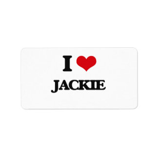 I Love Jackie Address Label