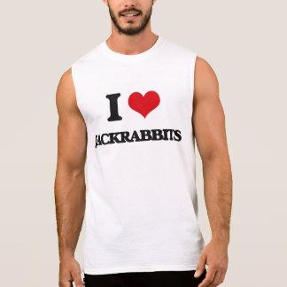 I love Jackrabbits Sleeveless Shirts