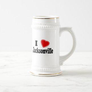 I Love Jacksonville Beer Stein