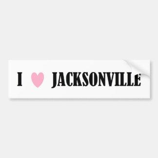 I LOVE JACKSONVILLE BUMPER STICKER CAR BUMPER STICKER