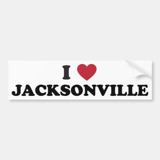 I Love Jacksonville Car Bumper Sticker