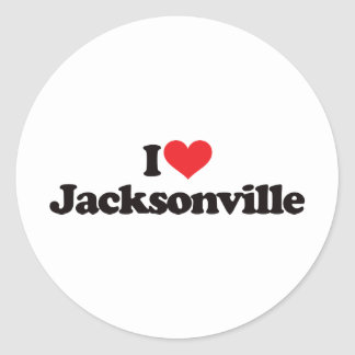 I Love Jacksonville Classic Round Sticker