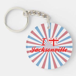 I Love Jacksonville, Georgia Keychains