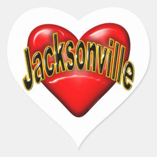 I Love Jacksonville Heart Sticker
