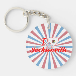 I Love Jacksonville, Illinois Acrylic Key Chain