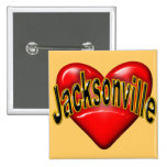 I Love Jacksonville Pinback Button