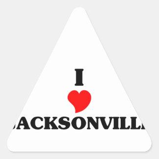 I love Jacksonville Triangle Sticker