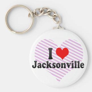 I Love Jacksonville, United States Keychain