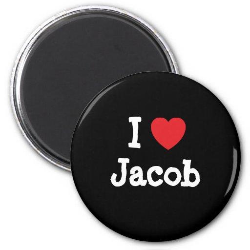 I love Jacob heart custom personalized Magnet