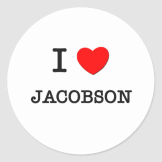 I Love Jacobson Sticker