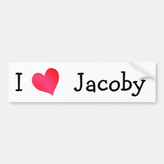 I Love Jacoby Bumper Sticker