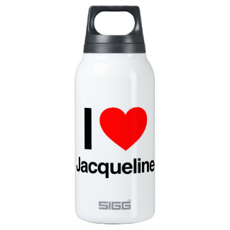i love jacqueline 10 oz insulated SIGG thermos water bottle