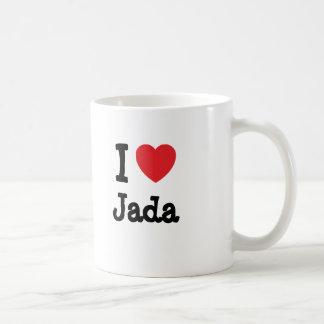 I love Jada heart T-Shirt Coffee Mug