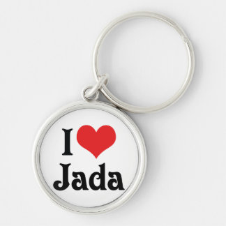 I Love Jada Keychain