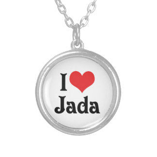 I Love Jada Silver Plated Necklace
