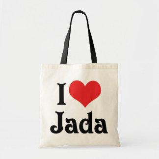 I Love Jada Tote Bag