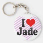 I love Jade Key Chain