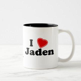 I Love Jaden Two-Tone Coffee Mug