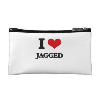 I Love Jagged Cosmetic Bags